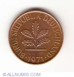 Image #2 of 1 Pfennig 1971 D