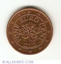 Image #2 of 5 Euro Cent 2005