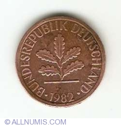 Image #2 of 1 Pfennig 1982 F