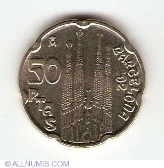50 PESETAS JUAN CARLOS I 1999 UNCIRCULATED US SPAIN