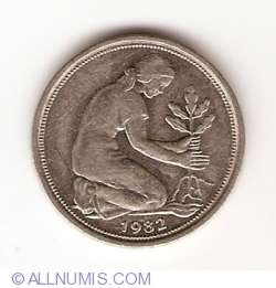 Imaginea #2 a 50 Pfennig 1982 D