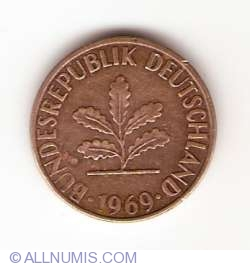 Image #2 of 1 Pfennig 1969 J