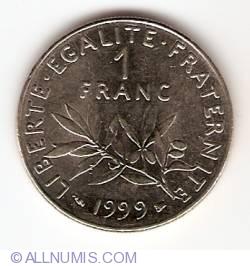 Image #1 of 1 Franc 1999
