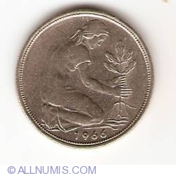 Image #2 of 50 Pfennig 1966 F
