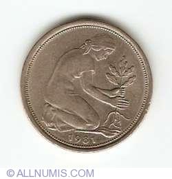 Imaginea #2 a 50 Pfennig 1981 D