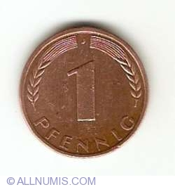 Image #1 of 1 Pfennig 1970 J
