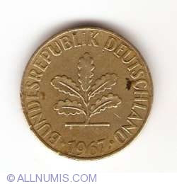 Image #2 of 5 Pfennig 1967 J