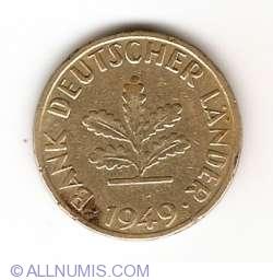 Imaginea #2 a 10 Pfennig 1949 F