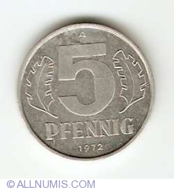 Image #1 of 5 Pfennig 1972 A