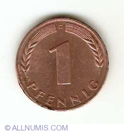 Image #1 of 1 Pfennig 1968 G