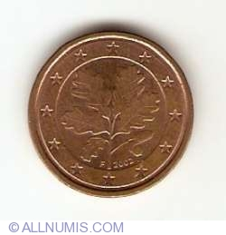 Image #2 of 1 Euro Cent 2002 F