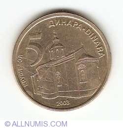 Imaginea #1 a 5 Dinari 2003