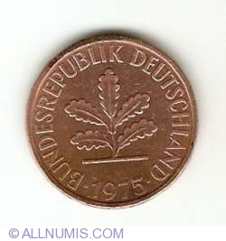 Image #2 of 2 Pfennig 1975 D