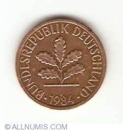 Image #2 of 1 Pfennig 1984 F