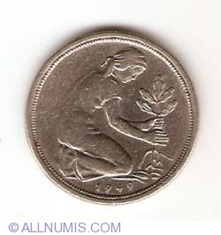 Imaginea #2 a 50 Pfennig 1949 D