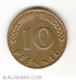 Imaginea #1 a 10 Pfennig 1949 D