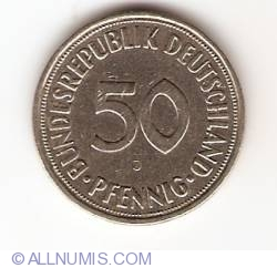 Image #1 of 50 Pfennig 1950 J