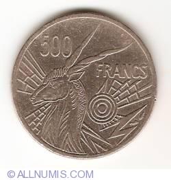 Image #1 of 500 Francs 1977 D - Gabon