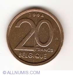 Image #1 of 20 Francs 1994 (Belgique)