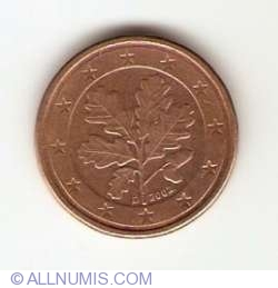 Image #2 of 1 Euro Cent 2002 D
