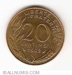 Image #1 of 20 Centimes 1992