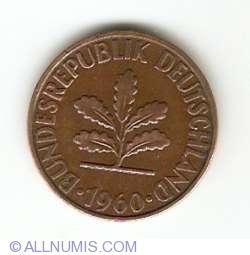 Image #2 of 2 Pfennig 1960 J