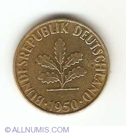 Image #2 of 5 Pfennig 1950 G
