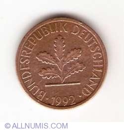 Image #2 of 1 Pfennig 1992 A