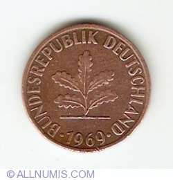 Image #2 of 1 Pfennig 1969 F
