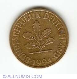 Image #2 of 10 Pfennig 1994 D