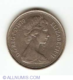 5 New Pence 1970