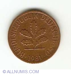 Image #2 of 1 Pfennig 1981 J