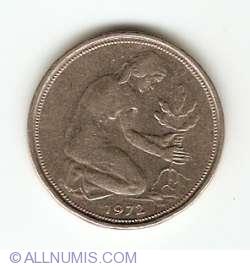 Imaginea #2 a 50 Pfennig 1972 D