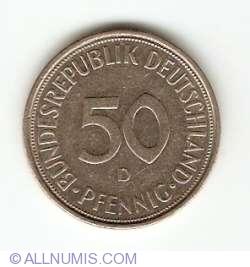 Imaginea #1 a 50 Pfennig 1972 D