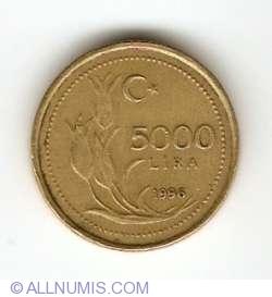 Image #1 of 5000 Lira 1996