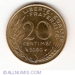 Image #1 of 20 Centimes 2000