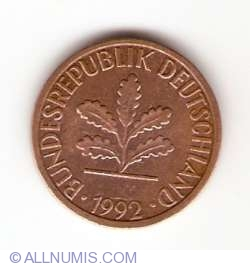 Image #2 of 1 Pfennig 1992 D