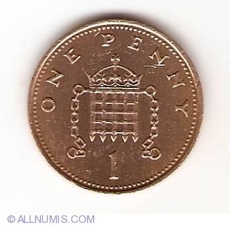 1 Penny 1985 Elizabeth Ii 1952 Present Great Britain Coin 10048