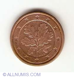 Image #2 of 1 Euro Cent 2002 G