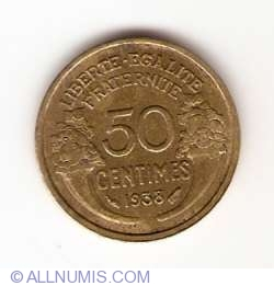 Image #1 of 50 Centimes 1938