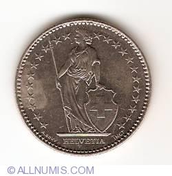 Image #2 of 2 Francs 1992