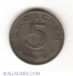 Imaginea #1 a 5 Groschen 1951
