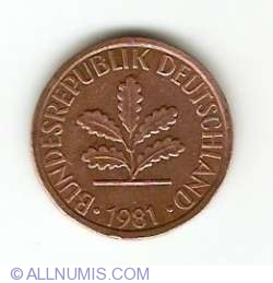 Image #2 of 1 Pfennig 1981 G