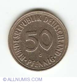 Image #1 of 50 Pfennig 1950 G