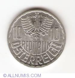 Image #2 of 10 Groschen 1968