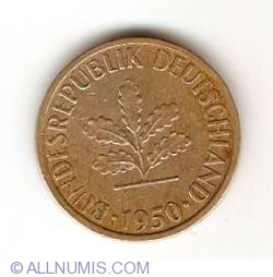 Image #2 of 5 Pfennig 1950 J