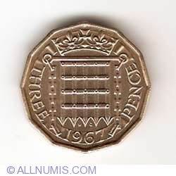 3 Pence 1967