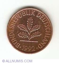 Image #2 of 2 Pfennig 1992 G