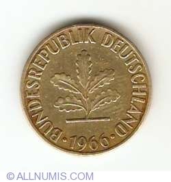 Image #2 of 5 Pfennig 1966 D