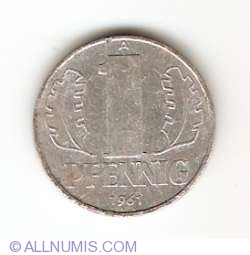 Image #1 of 1 Pfennig 1961 A